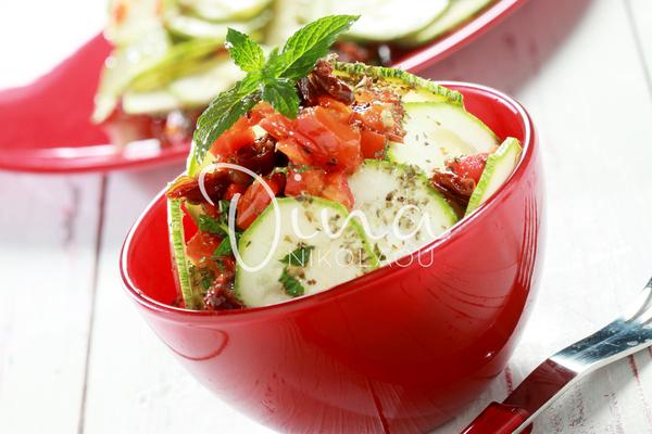 Salade de courgettes et menthe