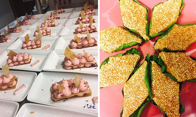 Τραγανά φύλλα μπακλαβά με κρέμα λουκούμι Τήνου και Κεφές με παστέλι