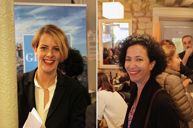 Η διευθύντρια του ΕΟΤ στη Γαλλία, κ. Δήμητρα Βοζίκη και η κ. Αναστασία Δεληγιάννη, αντιδήμαρχος Τήνου.