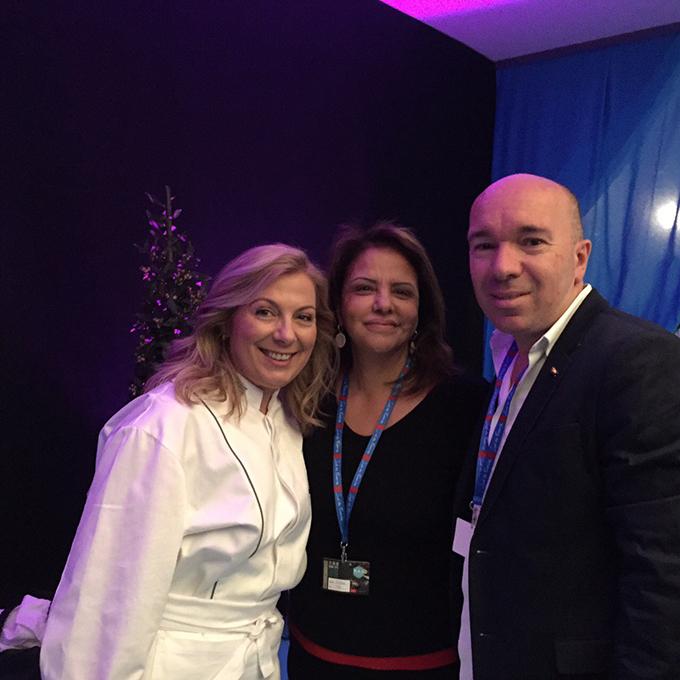 Με την Fatema Hal και τον Jacques Pourcel.