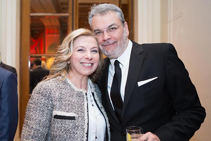 Ο Δ/ων Σύμβουλος της HotelBrain κος Κωνσταντίνος Ζήκος με την chef Ντίνα Νικολάου
