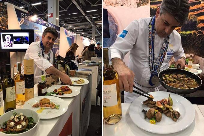 Ο executive chef Βαγγέλης Μπιλιμπάς επί το έργον...