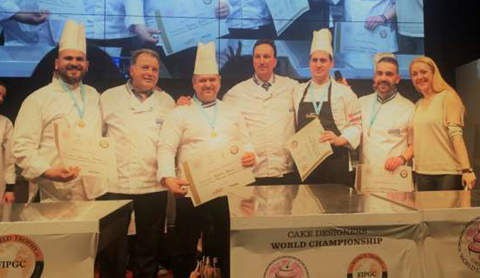 Ελληνική αποστολή στον Παγκόσμιο Διαγωνισμό Ζαχαροπλαστικής World Trophy & Cake Designers στο Μιλάνο