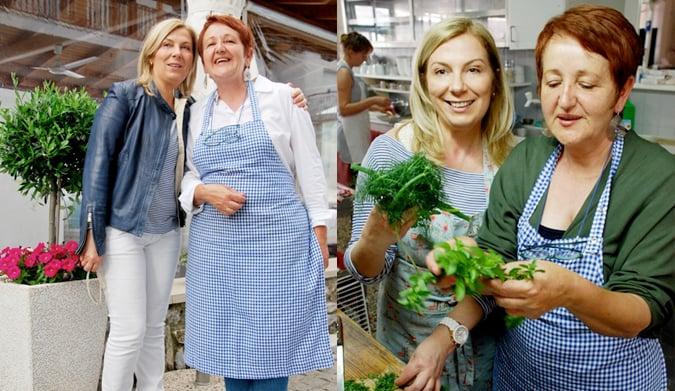 Μαγειρεύοντας με τη Λουλουδιά στο Ακρογιάλι της στην Ολυμπιάδα