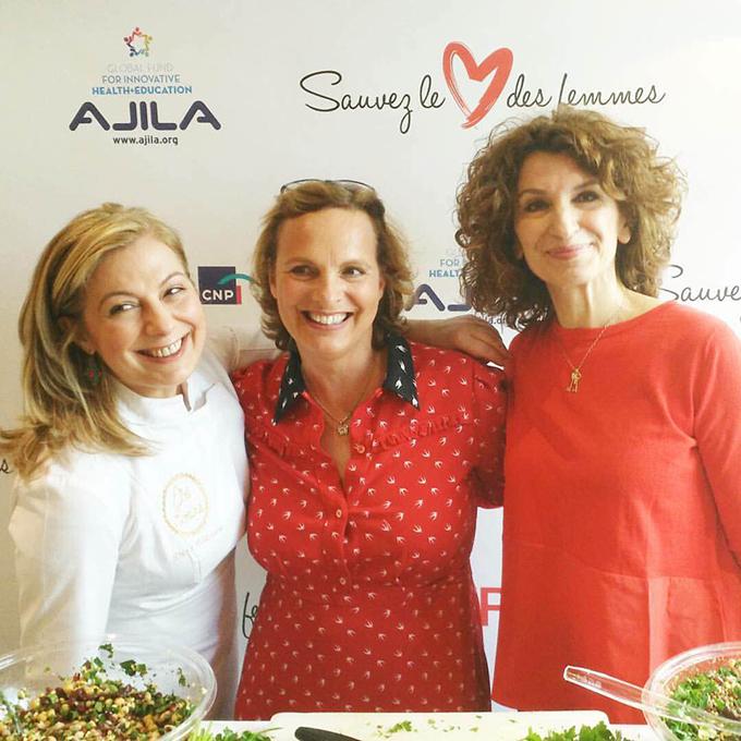 Με την εμπνευστή της διοργάνωσης, Sauvez le Cœur des femmes, Isabelle Weill.
