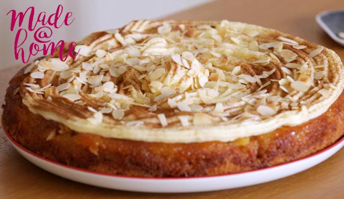 Μηλόπιτα τούρτα με κρέμα μιλφέιγ