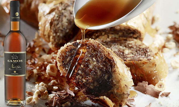 Η σεφ Ντίνα Νικολάου εμπνέεται από το Samos Nectar του ΕΟΣ Σάμου και δημιουργεί ένα «ερωτεύσιμο» γλυκό