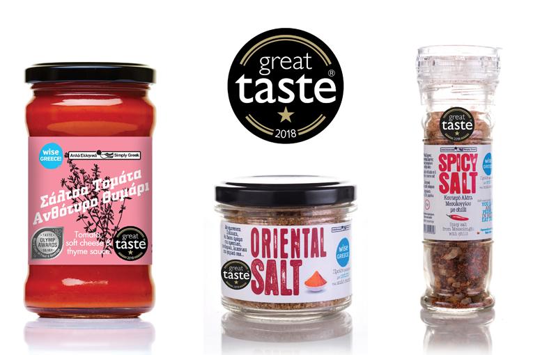 Τρία νέα Great Taste Awards στα αποκλειστικά προϊόντα Wise Greece!