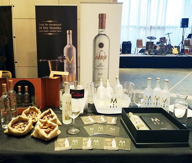 Τα premium M DRY Mastiha και Ούζο Άδολο κατέκτησαν και φέτος τους επισκέπτες του 13o Cellier Wine Fair
