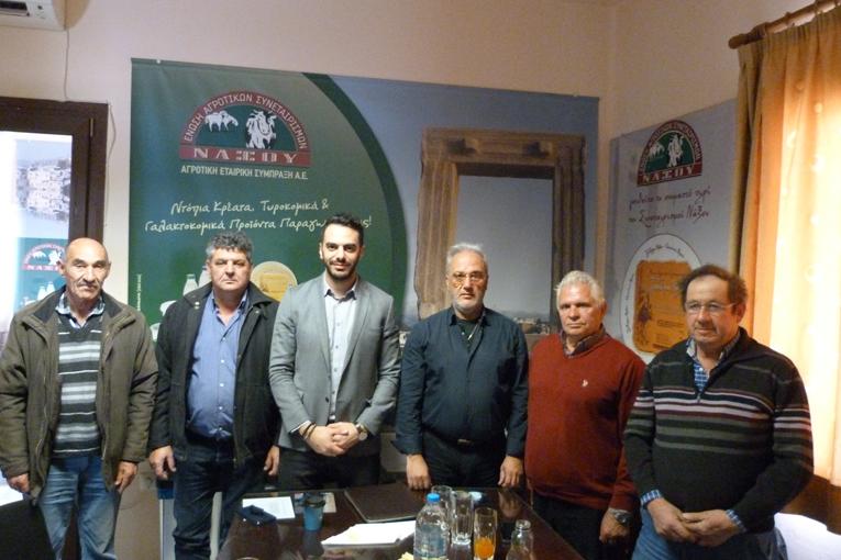 Επίσκεψη Μανώλη Χριστοδουλάκη στην Ε.Α.Σ. Νάξου!