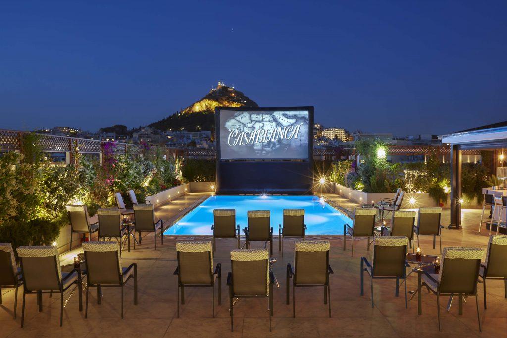 POOL YOUR CINEMA at the Hotel Grande Bretagne